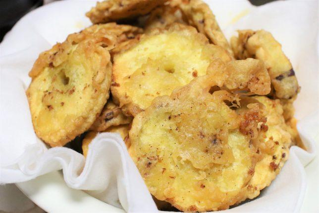 祖母がつくったサツマイモの天ぷら