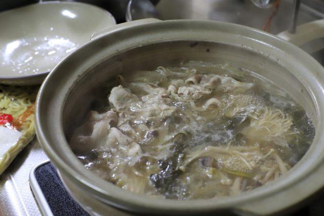 煮えたぎる二日目の鍋