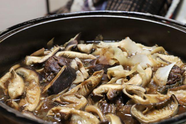 おばあがつくった椎茸のすき焼き