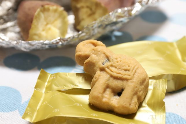 タイのお土産の象の形のチョコチップクッキー