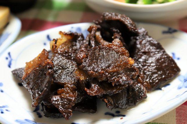 黒焦げの国産牛肉