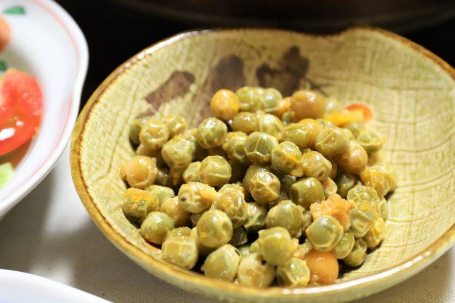 えんどう豆のたまごとじ