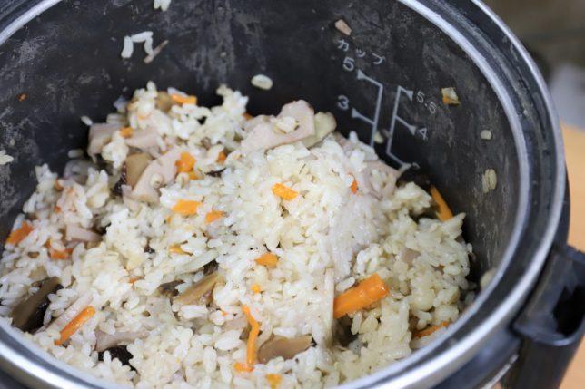 ガス炊飯器で炊いた炊き込みご飯