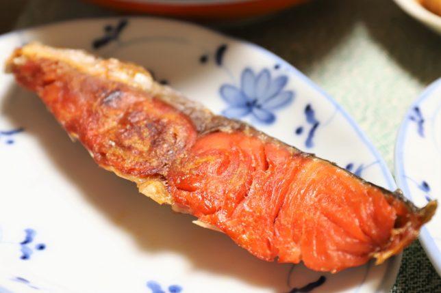 祖母(おばあ)が焼いた鮭