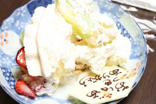 おばあがぐちゃぐちゃにしたフルーツケーキ