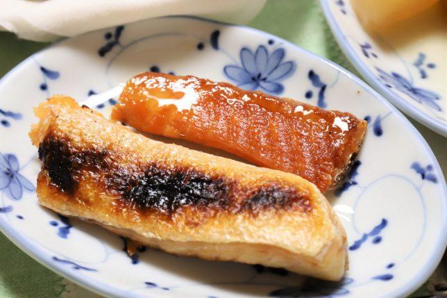 塩焼きの鮭のハラス
