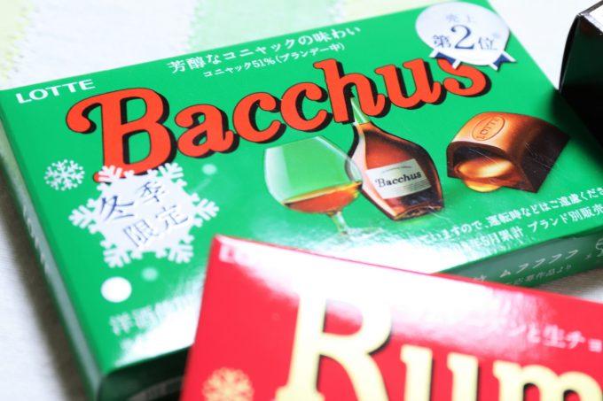 コニャックが入ったロッテのチョコレート、バッカス(bacchus)