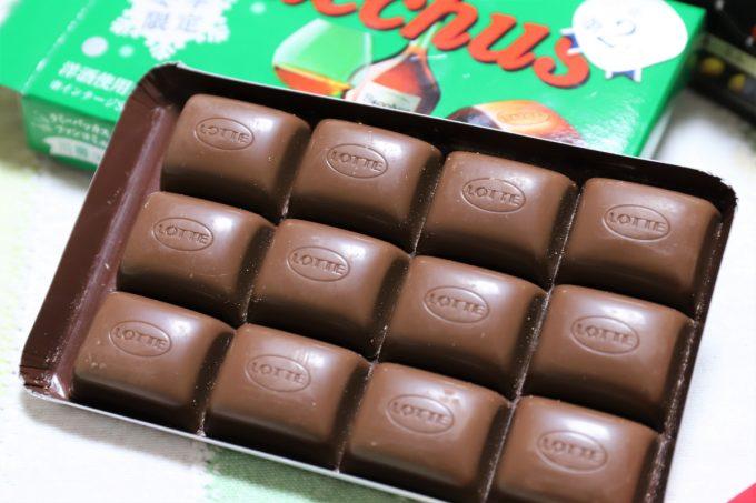 ロッテのチョコレート、バッカスの中身