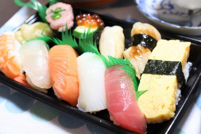 女子会で食べた握り寿司