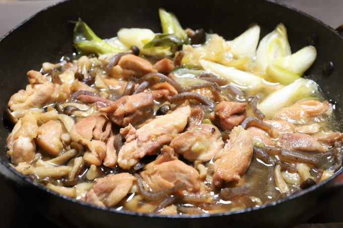 長ネギと鶏肉たっぷりの、鶏肉のすき焼き
