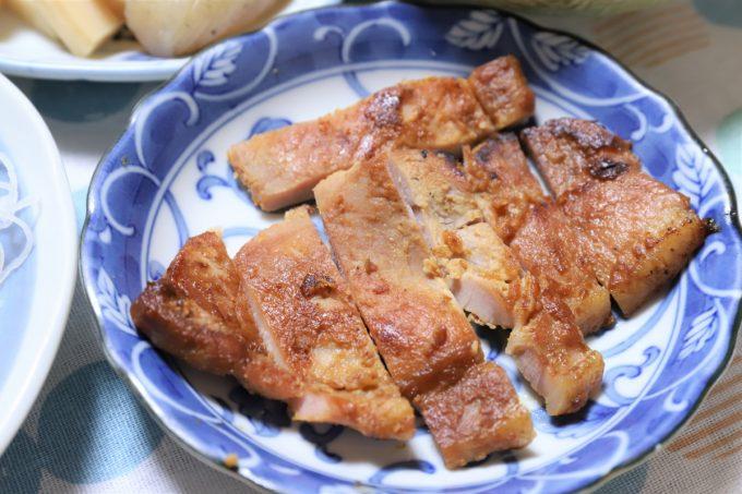 豚肉の味噌漬けを焼いたもの