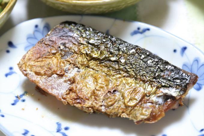 祖母(おばあ)の家で出てきた塩サバを焼いたもの