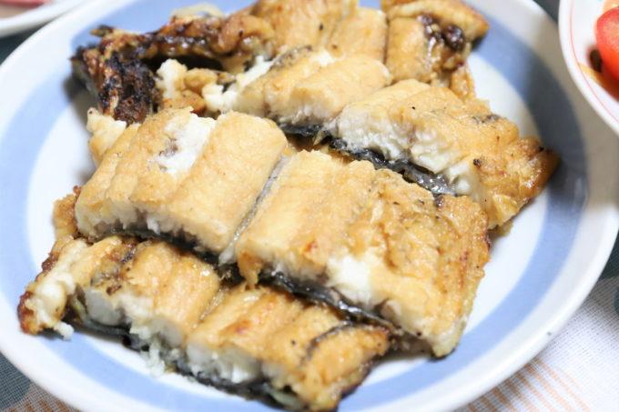 土用の丑の日に祖母(おばあ)の家で食べたウナギの白焼き