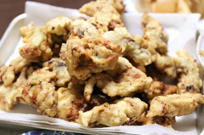 祖母(おばあ)が作った牡蠣の天ぷら