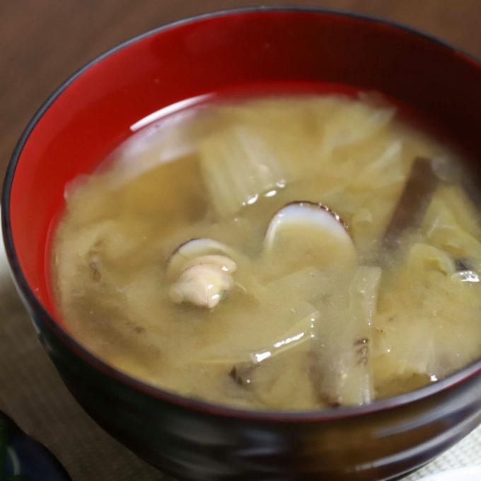 祖母(おばあ)が作ったシジミの味噌汁