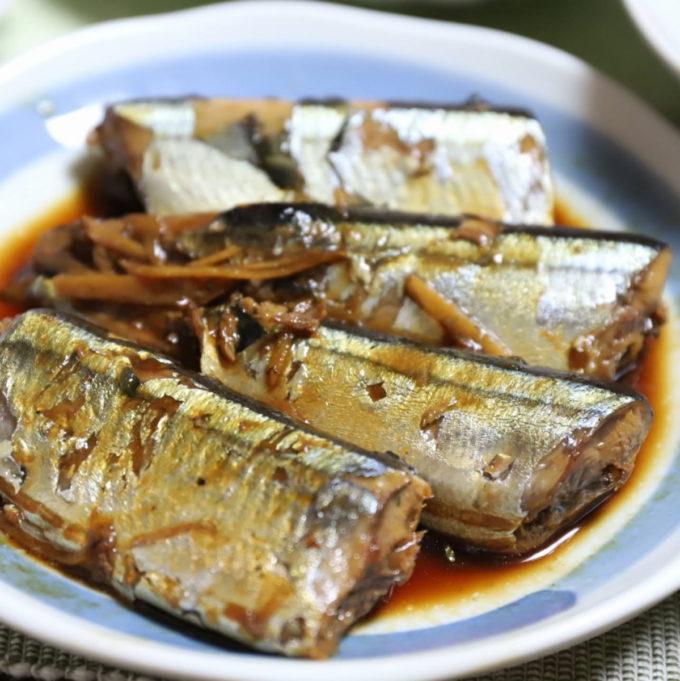 祖母(おばあ)が作った秋刀魚の煮物