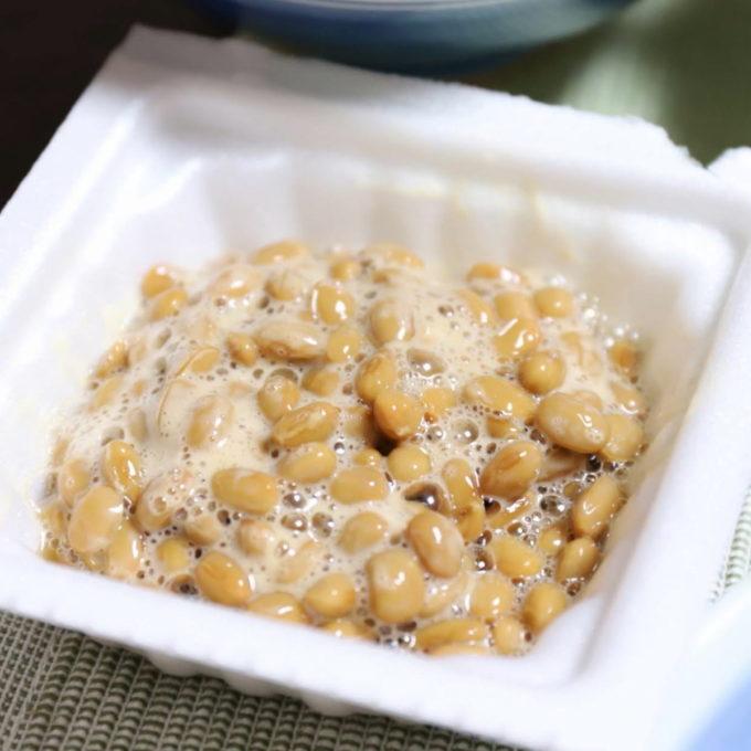 たまご醤油たれ納豆を混ぜたところ