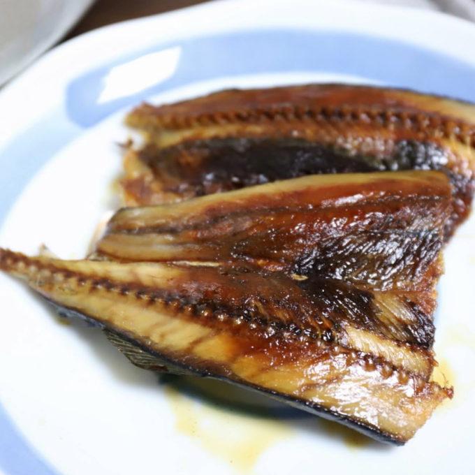 祖母(おばあ)が晩ごはんに出した秋刀魚の開き
