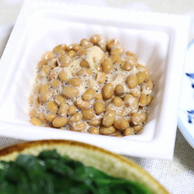 パック入りの納豆を混ぜたもの