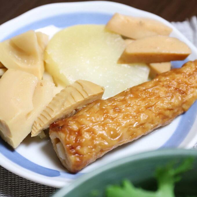 祖母が作ったチクワと大根とタケノコの煮物